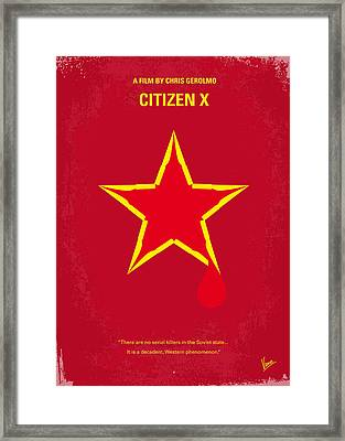 No017 My Citizen X Minimal Movie Poster Framed Print