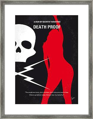 No018 My Death Proof Minimal Movie Poster Framed Print