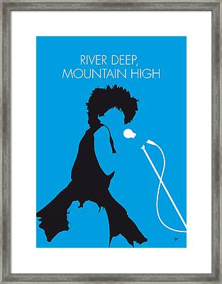 No019 My Tina Turner Minimal Music Poster Framed Print by Chungkong Art