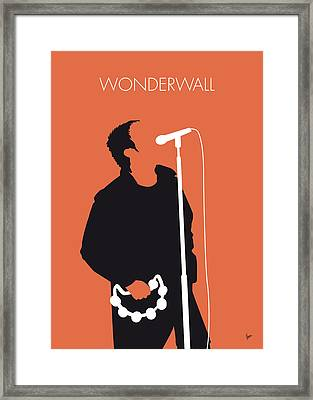 No023 My Oasis Minimal Music Poster Framed Print