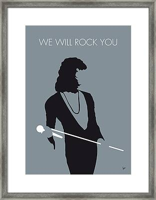 No027 My Queen Minimal Music Poster Framed Print