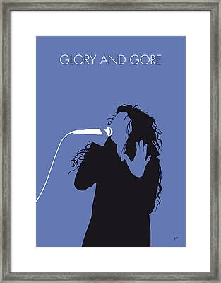 No028 My Lorde Minimal Music Poster Framed Print by Chungkong Art