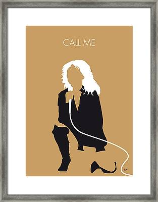 No030 My Blondie Minimal Music Poster Framed Print by Chungkong Art