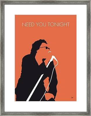 No033 My Inxs Minimal Music Poster Framed Print by Chungkong Art