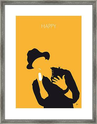 No034 My Pharrell Williams Minimal Music Poster Framed Print by Chungkong Art