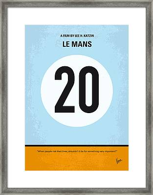 No038 My Le Mans Minimal Movie Poster Framed Print by Chungkong Art