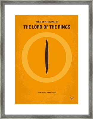 No039 My Lord Of The Rings Minimal Movie Poster Framed Print