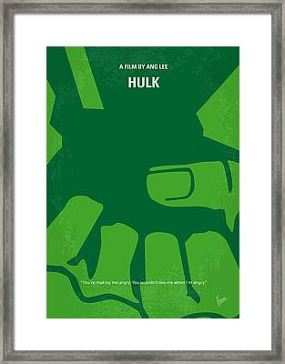 No040 My Hulk Minimal Movie Poster Framed Print