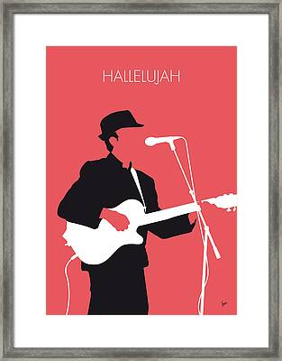 No042 My Leonard Cohen Minimal Music Framed Print by Chungkong Art