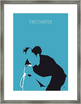 No045 My The Prodigy Minimal Music Poster Framed Print by Chungkong Art