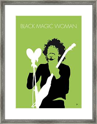 No046 My Santana Minimal Music Poster Framed Print by Chungkong Art