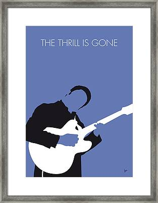 No048 My Bb King Minimal Music Poster Framed Print
