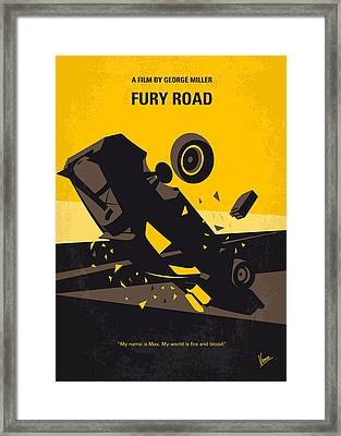 No051 My Mad Max 4 Fury Road Minimal Movie Poster Framed Print