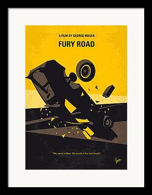 Fury Digital Art Framed Prints