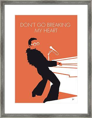 No053 My Elton John Minimal Music Poster Framed Print by Chungkong Art