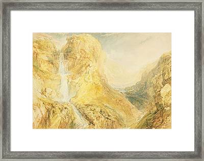 No.0571 Mossdale Fall, Yorkshire Framed Print by Joseph Mallord William Turner