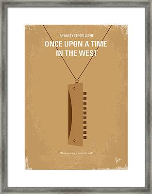 No059 My Once Upon A Time In The West Minimal Movie Poster Framed Print