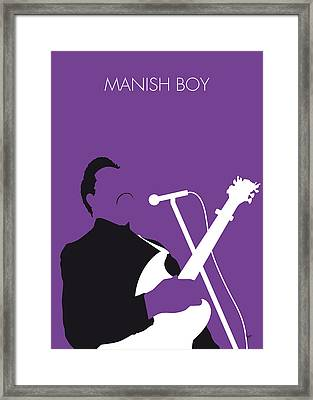 No061 My Muddy Waters Minimal Music Poster Framed Print
