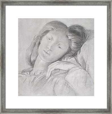 Elizabeth Siddal, Circa 1860 Framed Print by Dante Gabriel Charles Rossetti
