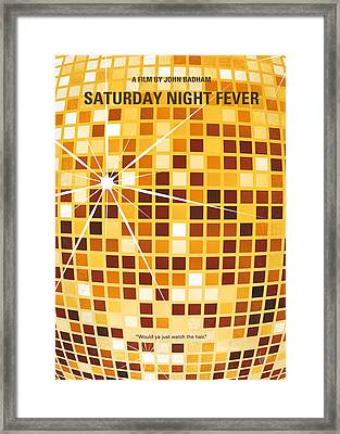 No074 My Saturday Night Fever Minimal Movie Poster Framed Print by Chungkong Art