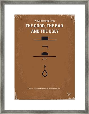 No090 My The Good The Bad The Ugly Minimal Movie Poster Framed Print by Chungkong Art