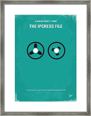 No092 My The Ipcress File Minimal Movie Poster Framed Print