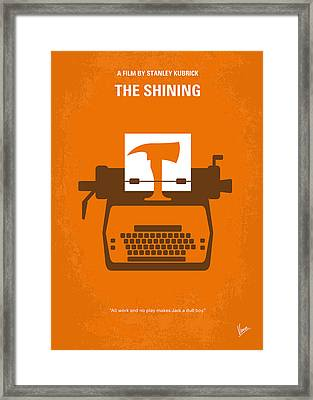 No094 My The Shining Minimal Movie Poster Framed Print by Chungkong Art