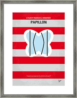 No098 My Papillon Minimal Movie Poster Framed Print by Chungkong Art