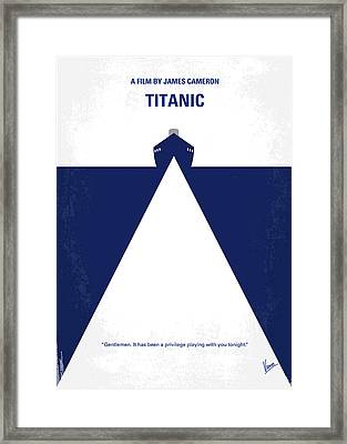 No100 My Titanic Minimal Movie Poster Framed Print