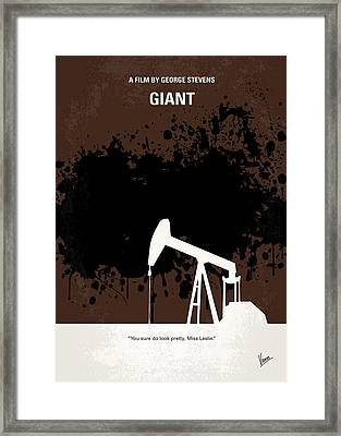 No102 My Giant Minimal Movie Poster Framed Print