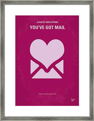 No107 My Youve Got Mail Movie Poster Framed Print by Chungkong Art