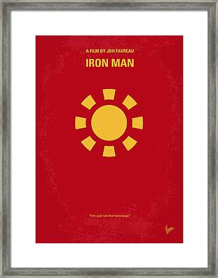 No113 My Iron Man Minimal Movie Poster Framed Print by Chungkong Art