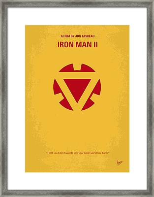 No113 My Iron Man Minimal Movie Posterno113-2 My Iron Man 2 Minimal Movie Poster Framed Print