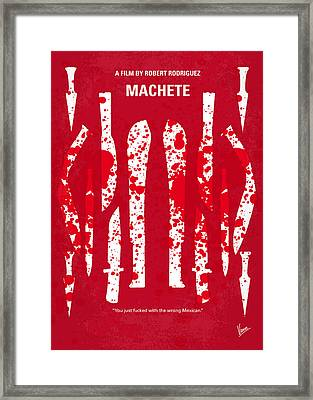 No114 My Machete Minimal Movie Poster Framed Print