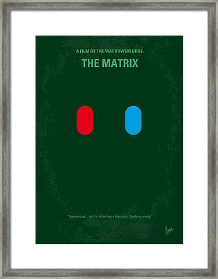 No117 My Matrix Minimal Movie Poster Framed Print