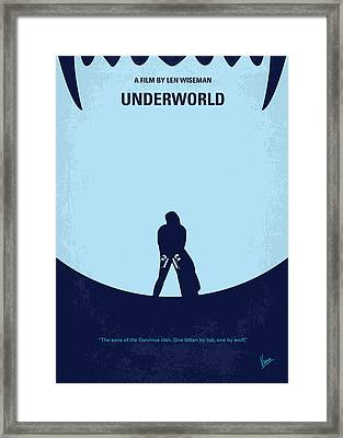 No122 My Underworld Minimal Movie Framed Print by Chungkong Art