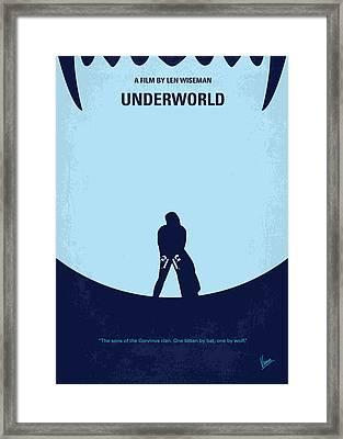 No122 My Underworld Minimal Movie Framed Print