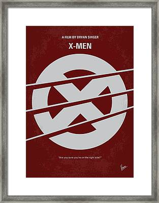 No123 My Xmen Minimal Movie Poster Framed Print