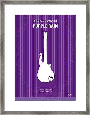 No124 My Purple Rain Minimal Movie Poster Framed Print