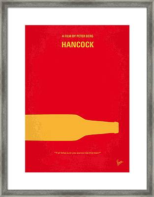 No129 My Hancock Minimal Movie Poster Framed Print by Chungkong Art