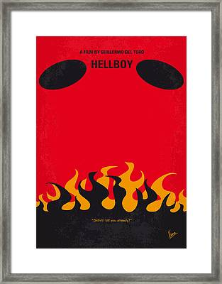 No131 My Hellboy Minimal Movie Poster Framed Print by Chungkong Art