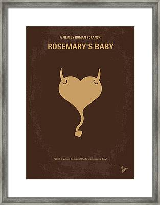 No132 My Rosemarys Baby Minimal Movie Poster Framed Print by Chungkong Art