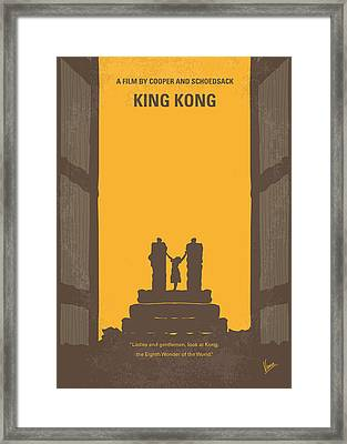No133 My King Kong Minimal Movie Poster Framed Print by Chungkong Art