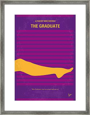 No135 My The Graduate Minimal Movie Poster Framed Print by Chungkong Art