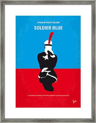 No136 My Soldier Blue Minimal Movie Poster Framed Print