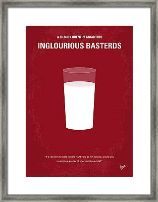 No138 My Inglourious Basterds Minimal Movie Poster Framed Print by Chungkong Art