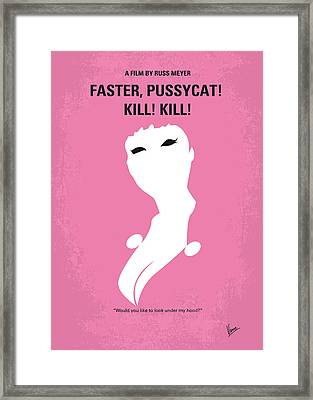 No141 My Faster Pussycat Kill Kill Minimal Movie Poster Framed Print