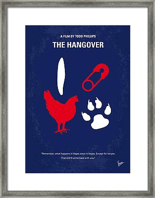 No145 My The Hangover Minimal Movie Poster Framed Print