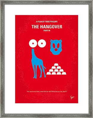 No145 My The Hangover Part 3 Minimal Movie Poster Framed Print by Chungkong Art