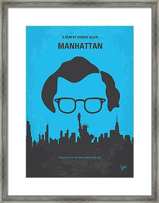 No146 My Manhattan Minimal Movie Poster Framed Print by Chungkong Art
